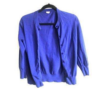J Crew Factory Blue Cardigan